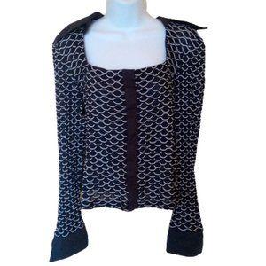 Square Neckline  Stretch Blouse Size 12 Fits XL